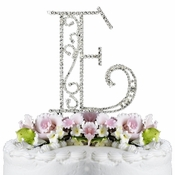Romanesque ~ Swarovski Crystal Wedding Cake Topper ~ Letter E