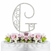 Romanesque ~ Swarovski Crystal Wedding Cake Topper ~ Letter G