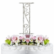 Romanesque ~ Swarovski Crystal Wedding Cake Topper ~ Letter I