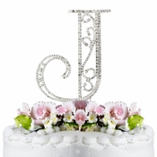 Romanesque ~ Swarovski Crystal Wedding Cake Topper ~ Letter J