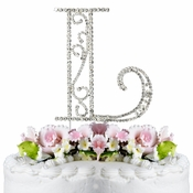 Romanesque ~ Swarovski Crystal Wedding Cake Topper ~ Letter L