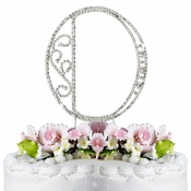 Romanesque ~ Swarovski Crystal Wedding Cake Topper ~ Letter O