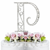 Romanesque ~ Swarovski Crystal Wedding Cake Topper ~ Letter P