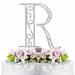 Romanesque ~ Swarovski Crystal Wedding Cake Topper ~ Letter R