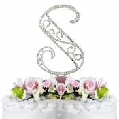 Romanesque ~ Swarovski Crystal Wedding Cake Topper ~ Letter S