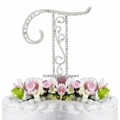 Romanesque ~ Swarovski Crystal Wedding Cake Topper ~ Letter T