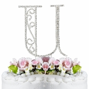 Romanesque ~ Swarovski Crystal Wedding Cake Topper ~ Letter U
