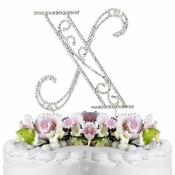 Romanesque ~ Swarovski Crystal Wedding Cake Topper ~ Letter X