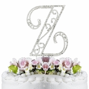 Romanesque ~ Swarovski Crystal Wedding Cake Topper ~ Letter Z