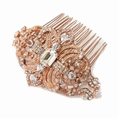 Rose Gold Bridal Hair Combs