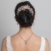 Rose Gold Clear Rhinestone Floral Vine Bridal Wedding Hair Bun Wrap Comb 5096