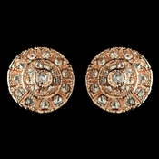Rose Gold Clear Rhinestone Stud Earrings 82057