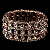Rose Gold Rhinestone Stretch Bracelet 9642