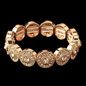 Rose Gold Rhinestone Stretch Bracelet 292