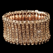 Rose Gold Rhinestone Stretch Bracelet 82023