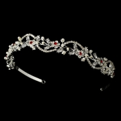 Ruby Red Bridal Tiara HP 392