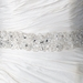Sheer Organza Embroidered Ivory Ribbon Beaded Belt/Headband 260