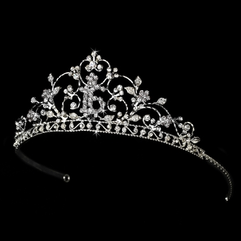 Shimmering Sweet 16 Clear Rhinestone Tiara in Silver 466***Discontinued***