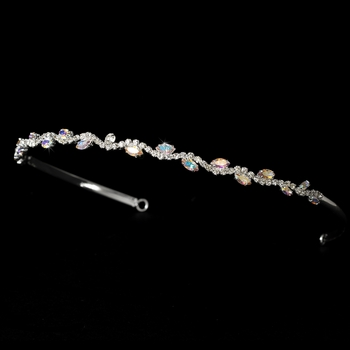 Silver and AB Bridal Headband HP 6008