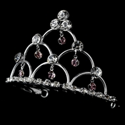 * Silver and Amethyst Child's Tiara Comb HPC 500