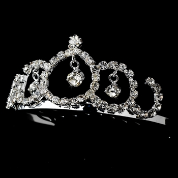 * Silver and Clear Crystal Child's Tiara HPC 239
