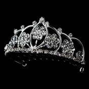 * Silver and Clear Crystal Child's Tiara HPC 400