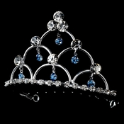 * Silver and Light Blue Child's Tiara Comb HPC 500