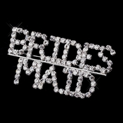 Silver and Rhinestone Bridesmaid Brooch 9000 **Discontinued**