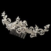 ✧SPECIAL ORDER ONLY✧ Silver Baroque Swirl Leaf Comb