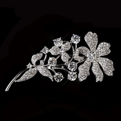 Silver Clear Flower Brooch 85