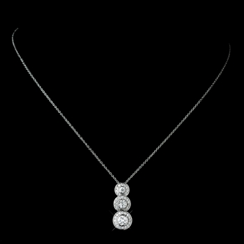 Silver Clear Bridal Necklace N 8110