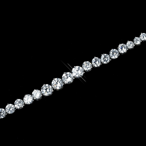 Silver Clear CZ Crystal Bracelet 8726 **Discontinued**