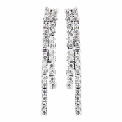 Silver Clear CZ Crystal Earrings E 8910