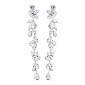 Silver Clear CZ Earrings 1303