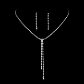 * Silver Clear Dangle Rhinestone Jewelry Set NE 70853