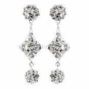 Silver Clear Earring Set 1265