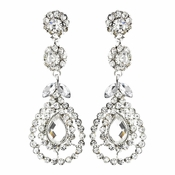 Silver Clear Earring Set 1328
