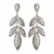 Silver Clear Earring Set 1329