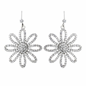 Silver Clear Earrings 8462