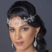 Silver Clear Face Jewelry Headpiece 9663