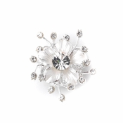 Silver Clear Flower Rhinestone Veil Jewerly Weight 1476