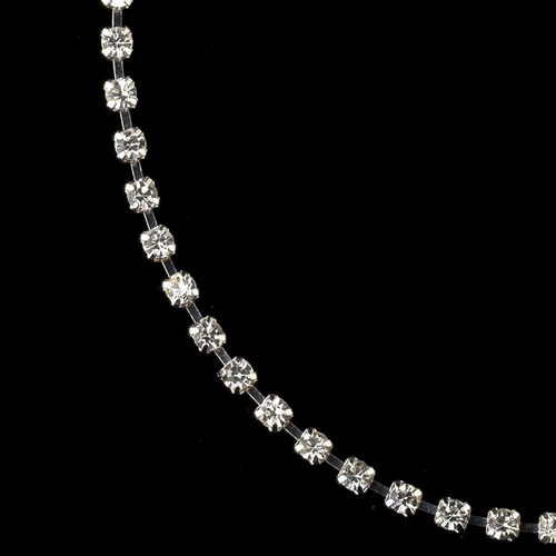 Silver Clear Rhinestone Anklet 19000