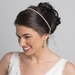 Silver Clear Rhinestone Bridal Wedding Ribbon Headband 2722