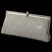 Silver Clear Rhinestone Evening Bag 337