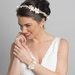 Silver Clear Rhinestone & Ivory Pearl Floral Bridal Wedding Headband Headpiece HP 10002