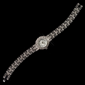 Silver Clear Rhinestone Vintage Filigree Watch 25