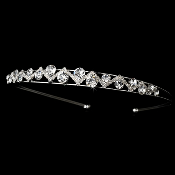 Silver Clear Tiara Headpiece 8368