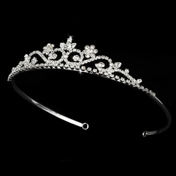 Silver Clear Tiara HP 6240