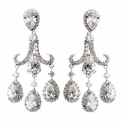 Silver CZ Post Earrings 4710