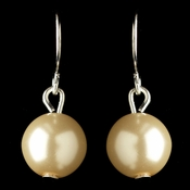 Silver Ivory Pearl Hook Drop Earrings 9715